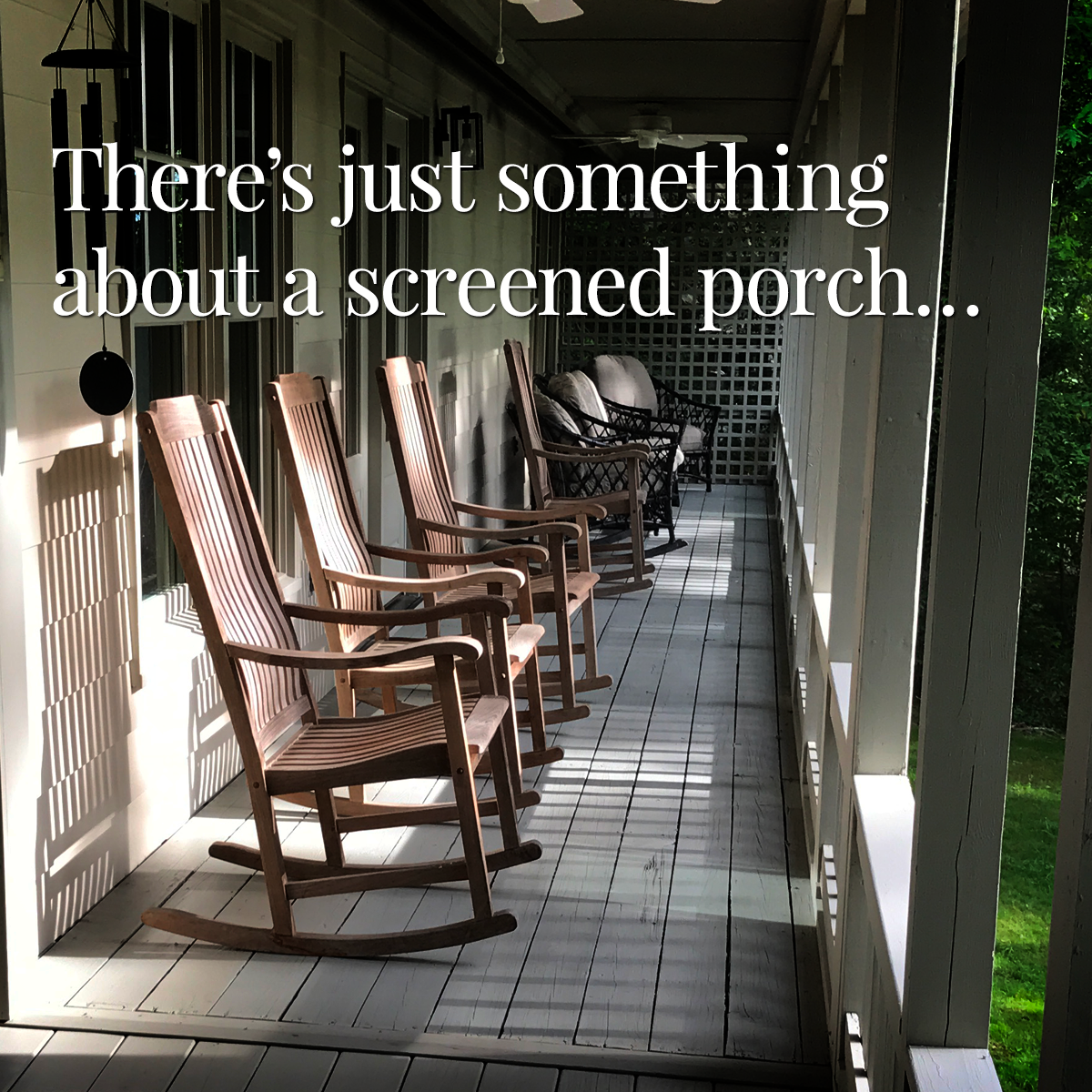 My Favorite Part of Home - A Screened Porch